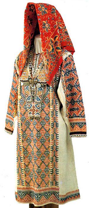 Вот старинная одежда южных хантов