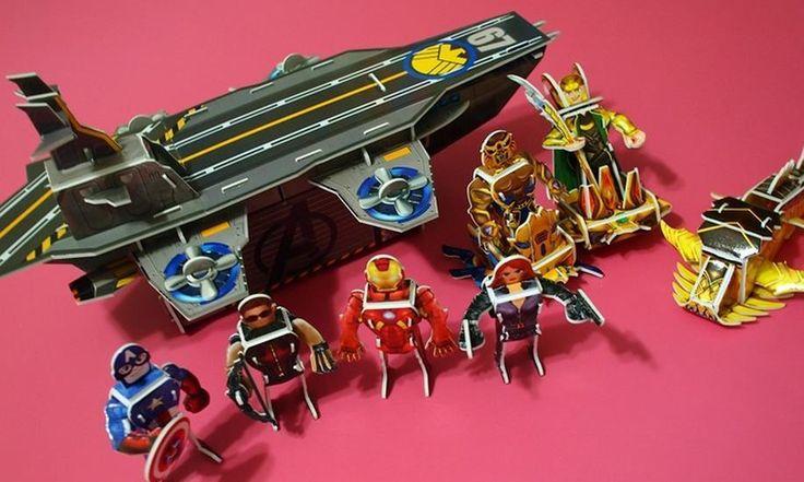 Avengers 3D Puzzle DIY Book Iron Man Thor  Do It Yourself Kid Educational Jigsaw #SamsungPublishingCoLtd
