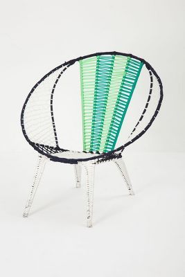 Anthropologie Colorblocked Basket Chair