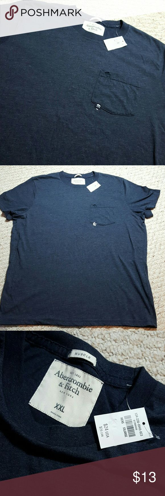 "New Abercrombie and Fitch TShirt New with tags  AF muscle TShirt  29"" in length  23"" underarm to underarm  3"" arm inseam  Dark Navy Blue  No trades Please  No modeling Abercrombie & Fitch Shirts Tees - Short Sleeve"
