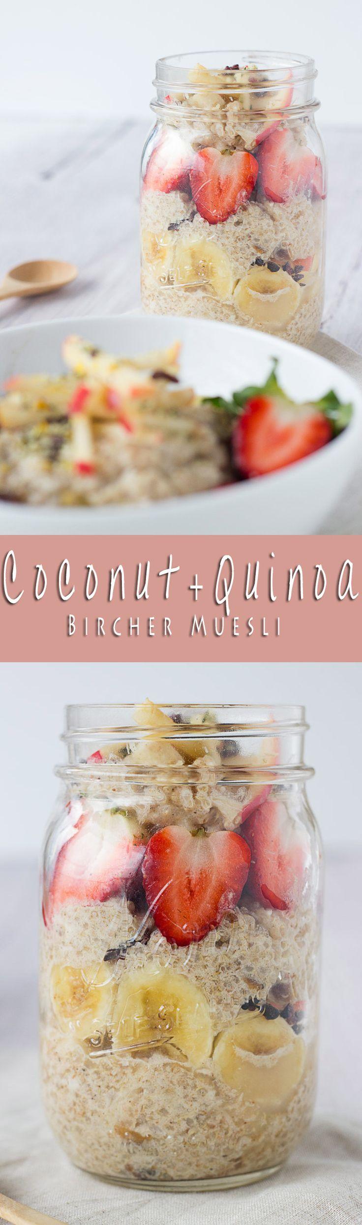 Overnight Coconut + Quinoa Bircher! So delicious, and gluten-free and vegan as well!