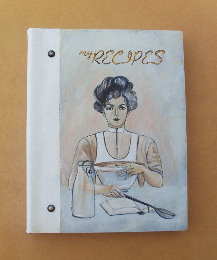 RECIPE BOOK, Personalized Recipe Book, Recipe Book Wood, Recipe Book Vintage, Blank Recipe Book, Kitchen Decor, Handmade and Hand Painted by allabouthandicraft on Etsy
