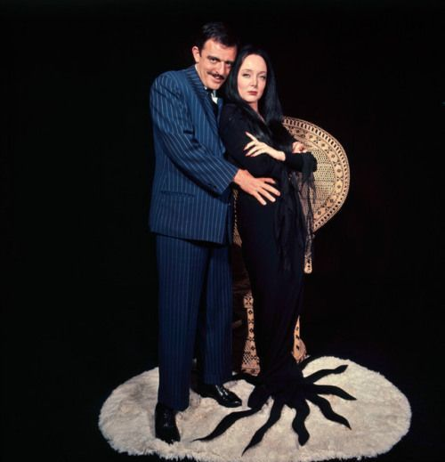 John Astin & Carolyn Jones, The Addams Family, 1964.