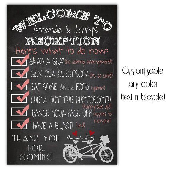 Welcome signs, Chalkboard wedding and Wedding welcome ...