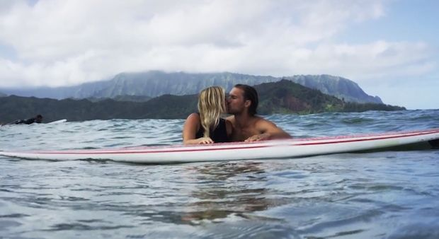 """Pro surfer Bethany Hamilton and husband Adam Dirks announce that their first baby, a boy, is due in June 2015!"""