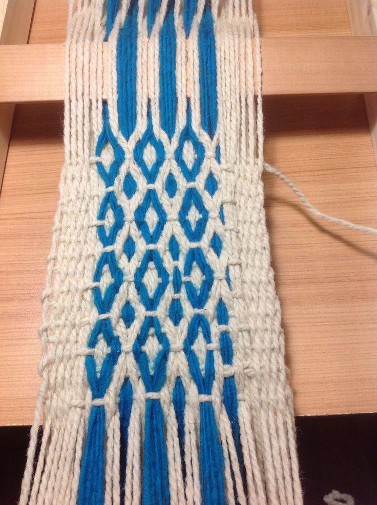 Ojo guanaco tejido mapuche de los Nehuenches ....