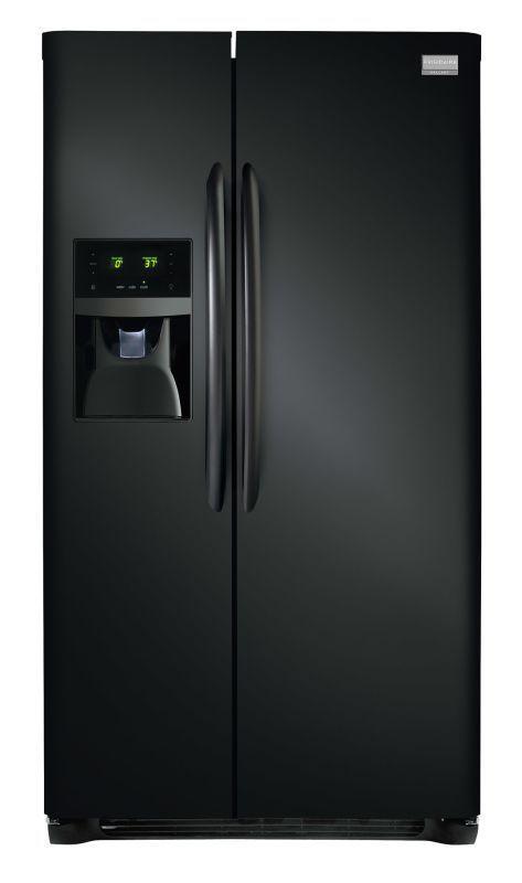Frigidaire FGHS2631P 26 Cu.Ft. Standard-Depth Side-By-Side Refrigerator Black Refrigerators Side By Side Fridge