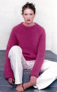 Alafosslopi Pullover pattern by Védis Jónsdóttir (knitting, ribbing, raglan, sweater, vogue knitting) (free pattern)