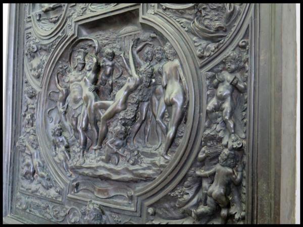 ◎希少!ブロンズ製 人物文装飾扉 彫刻 西洋美術 ローマ神話_画像8