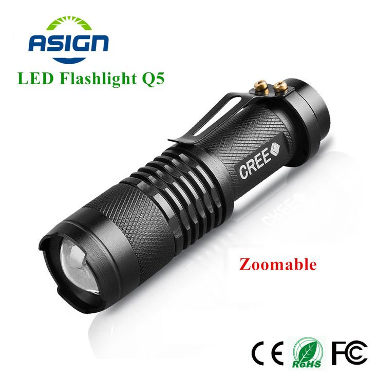 LED Senter Mini Zoom Tourch Led 7 W CREE 2000LM Waterproof 3 Mode Zoomable Torch AA 14500 baterai Senter