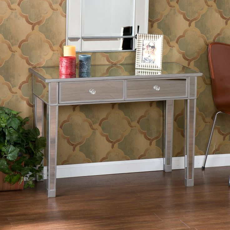 FurnitureMaxx Accent Mirror Hallway Console Table With 2 Drawers : Console  U0026 Sofa Tables