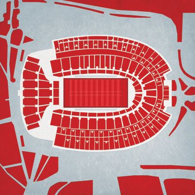 Ohio State Buckeyes - Ohio Stadium City Print - the Stadium Shoppe