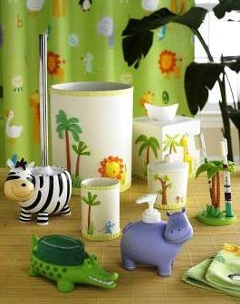 Charmant Bambini Zoo Friends Bath Accessories Collection By Kassatex
