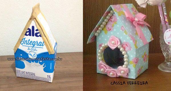 Pronto - Casinha de passarinho com caixa de leite