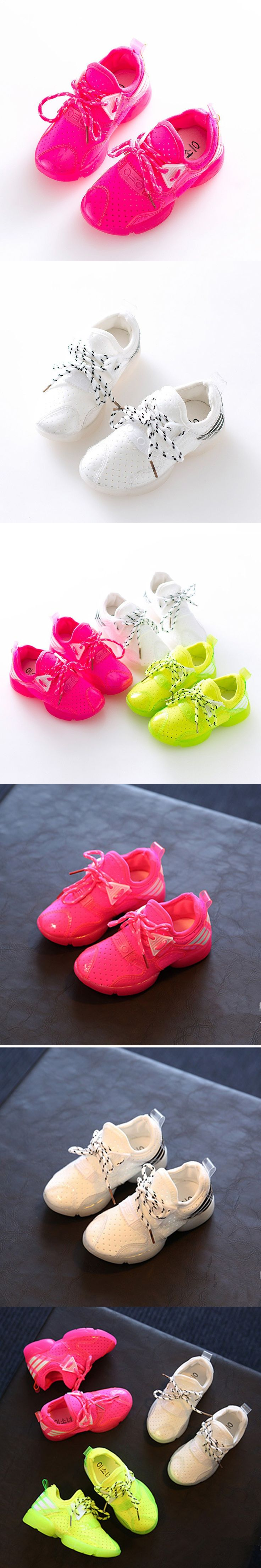 2016 Breathable White Girls Sneakers Casual Candy Color Shoes Girl Lace Up Kids Running Shoes Meisjes Schoenen Chaussure Fille