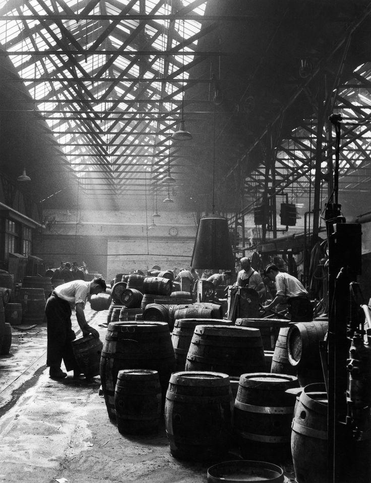 Hop into the legendary Guinness brewery, circa 1953