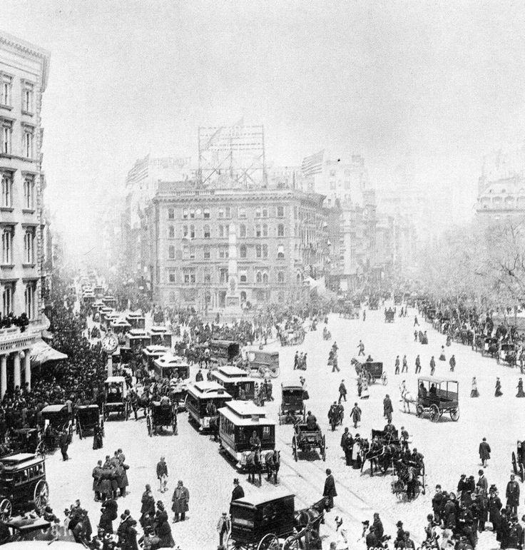 Madison Square looking north, New York City, 1893.