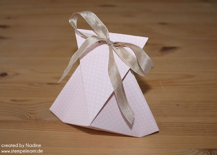 anleitung tutorial origami tasche stampin up box goodie. Black Bedroom Furniture Sets. Home Design Ideas