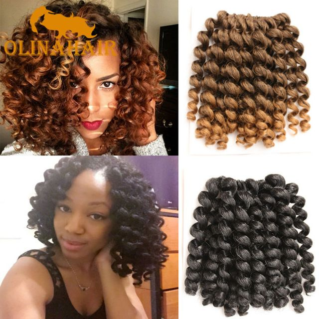 8-10 Inch Wand Curl Crochet Hair Extensions Ombre Kinky Twist Hair Crotchet Braids Synthetic Crochet Braids Hair Extensions