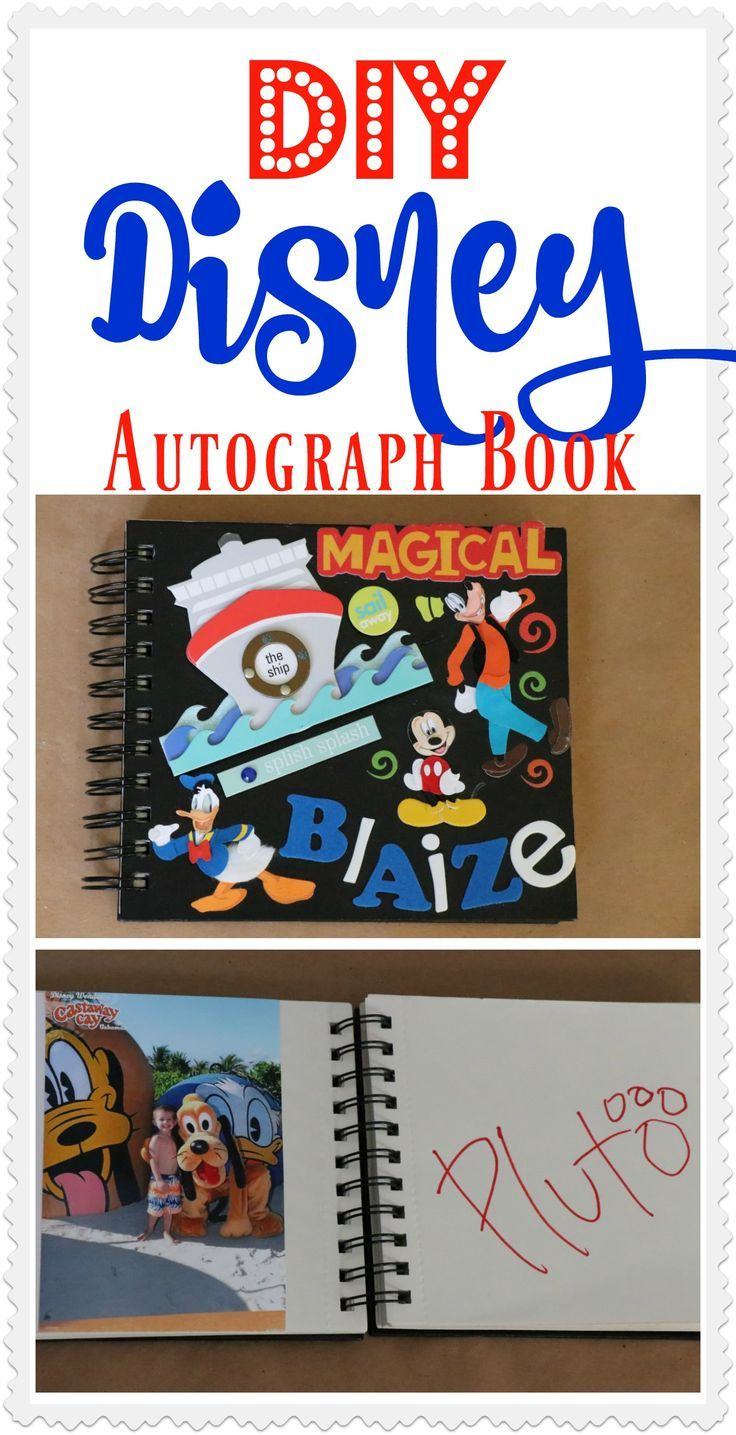 Make your very own customized Disney Autograph Book! It is so easy and can be created to fit the personality and likes of each individual child! Check out how easy it was!