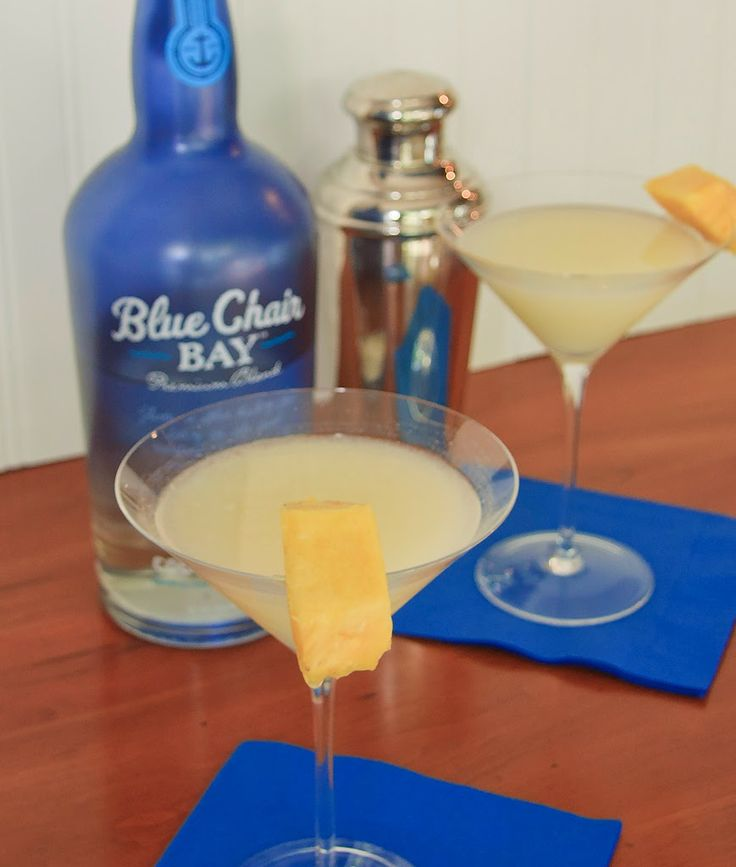 pina colada martini with blue chair bay coconut rum by kenny chesney