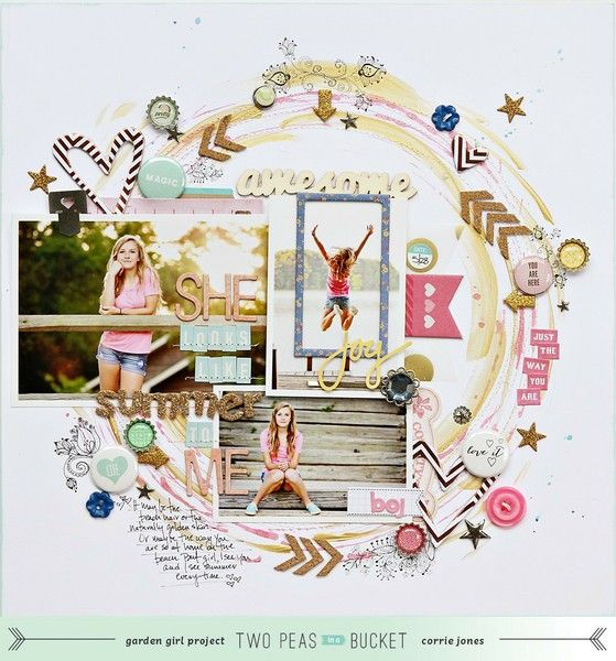 #papercraft #scrapbooking #layout - by Corrie Jones