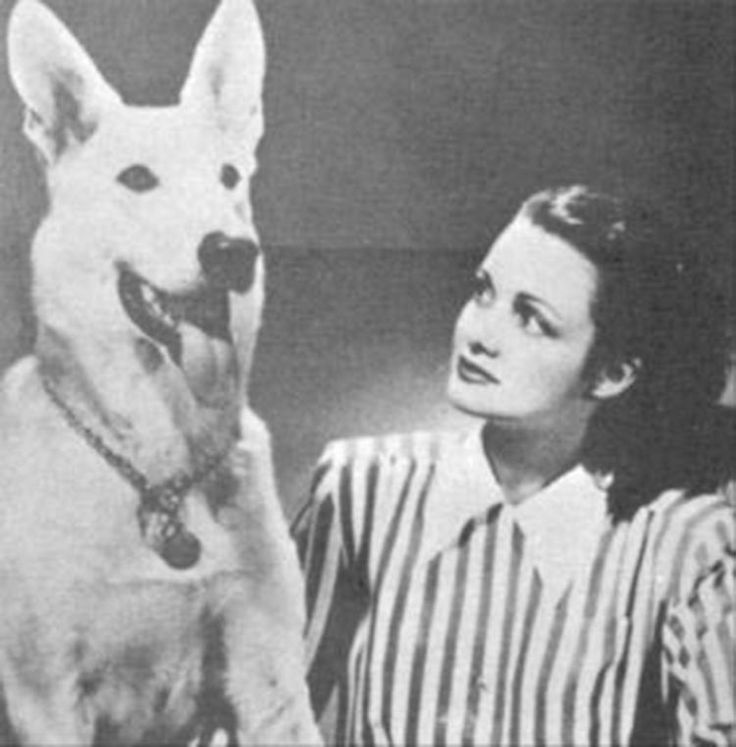 Actrice Dorothy Crider with Chinook