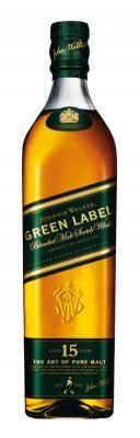 Johnnie Walker Green Label 15 year old Zachte harmonieuze malt met veel karakter