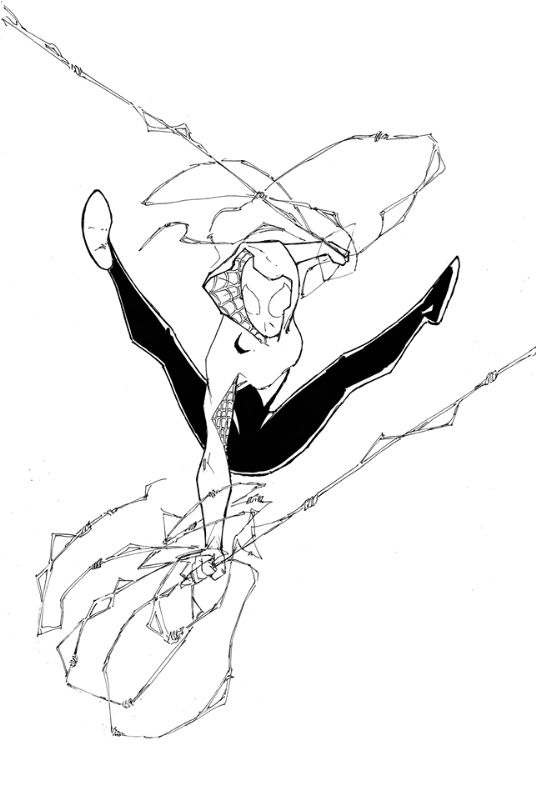 spider gwen pages coloring pages