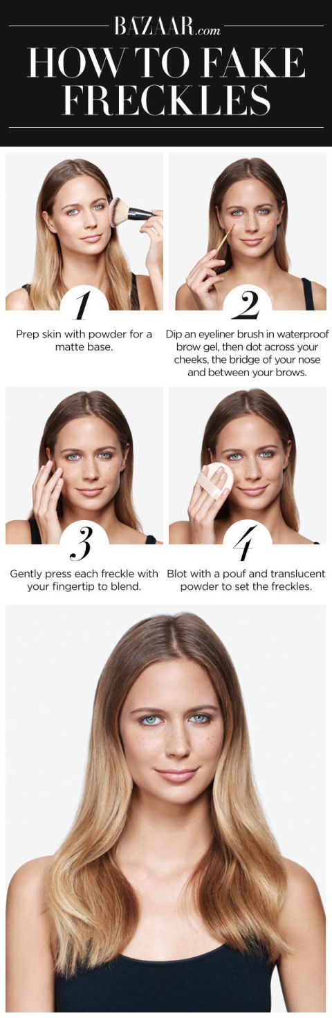 How to Fake Freckles - How to Draw On Freckles -- I hate fakers, but I kinda miss the freckles I grew up having