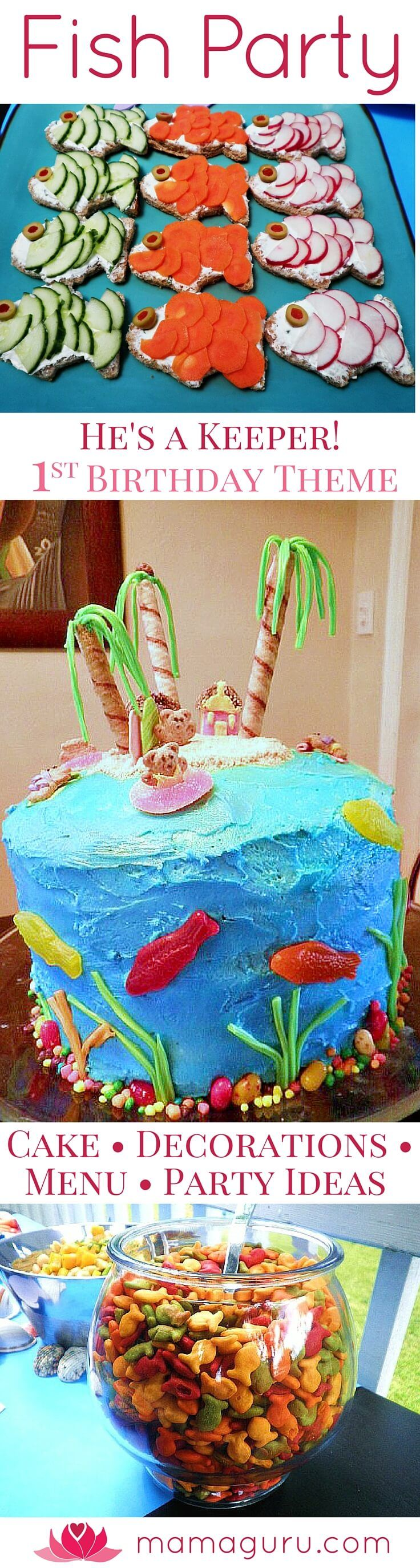 First Birthday Party • Fish Party • Kid Food • 1st   Birthday Party Theme • Fun Sandwiches