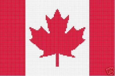 Crochet Patterns - FLAG CANADIAN afghan pattern