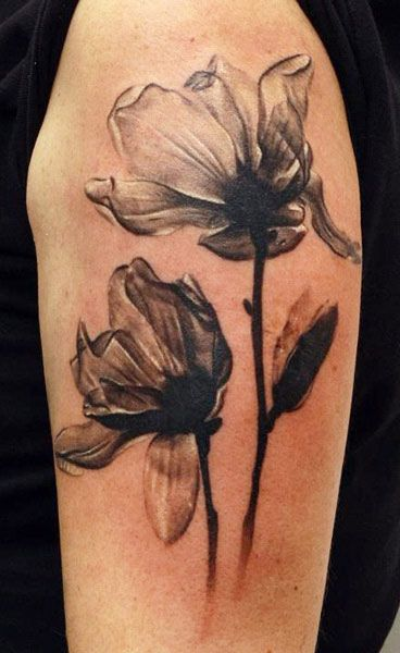 Abstract Flowers Tattoo by Sergey Gas | Tattoo No. 7978