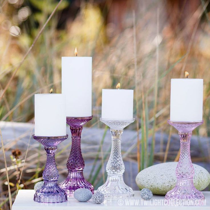 Bella Candle Holders - retro inspired pillar holders available in 10 colours