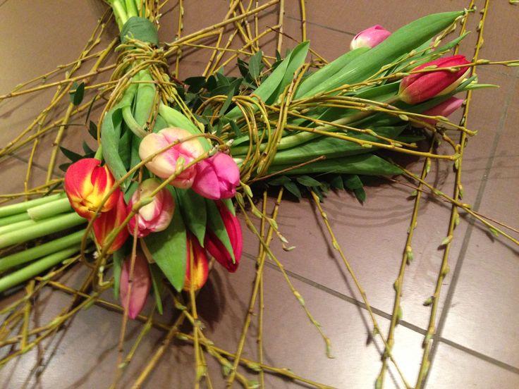 tavaszi tulipán virágcsokor