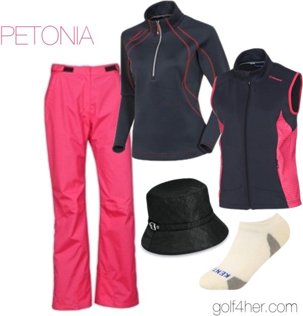 """""""Rain gear for women"""" by golf4her on Polyvore.  If I was going to golf in the rain, I would want to look good doing it!"""