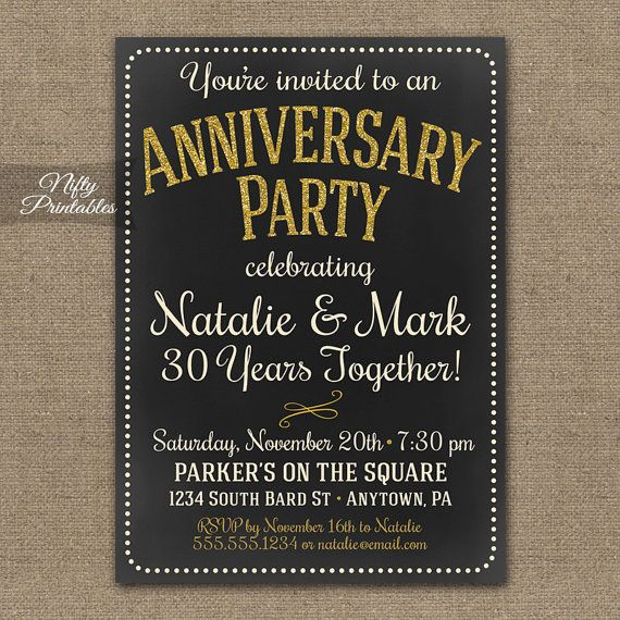 25 best ideas about Anniversary invitations on