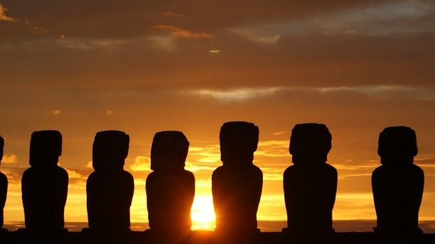 Sunrise on Easter Island, Chile