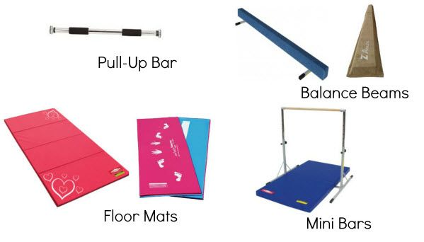 So now you have a couple pieces of home gymnastics equipment. Maybe you have a floor mat, a floor beam, a pull-up barand a floor bar or a combination of some of those pieces of equipment. This equi...
