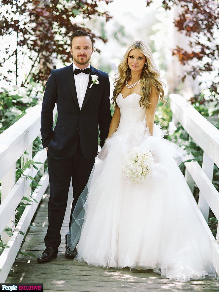 Aaron Paul & Lauren Parsekian wedding photo