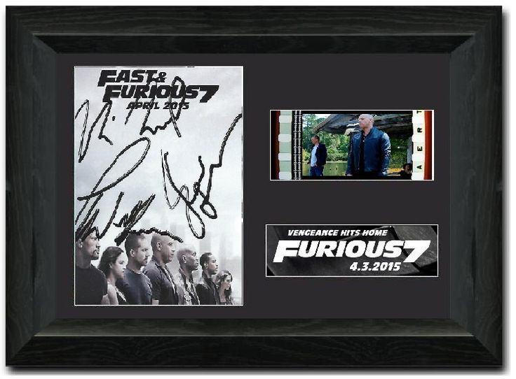 Fast & Furious 7 35 mm Framed Film Cell Display S2 Comic Con Fan Art Signed Vin Diesel ,Paul walker by SpottyDogProductions on Etsy https://www.etsy.com/listing/230094857/fast-furious-7-35-mm-framed-film-cell