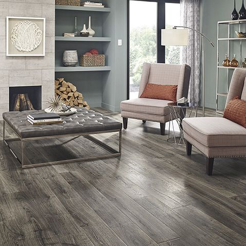 Vintage Pewter Oak Natural Laminate Floor With Wear And Spill Protection.  Grey Oak Wood Finish