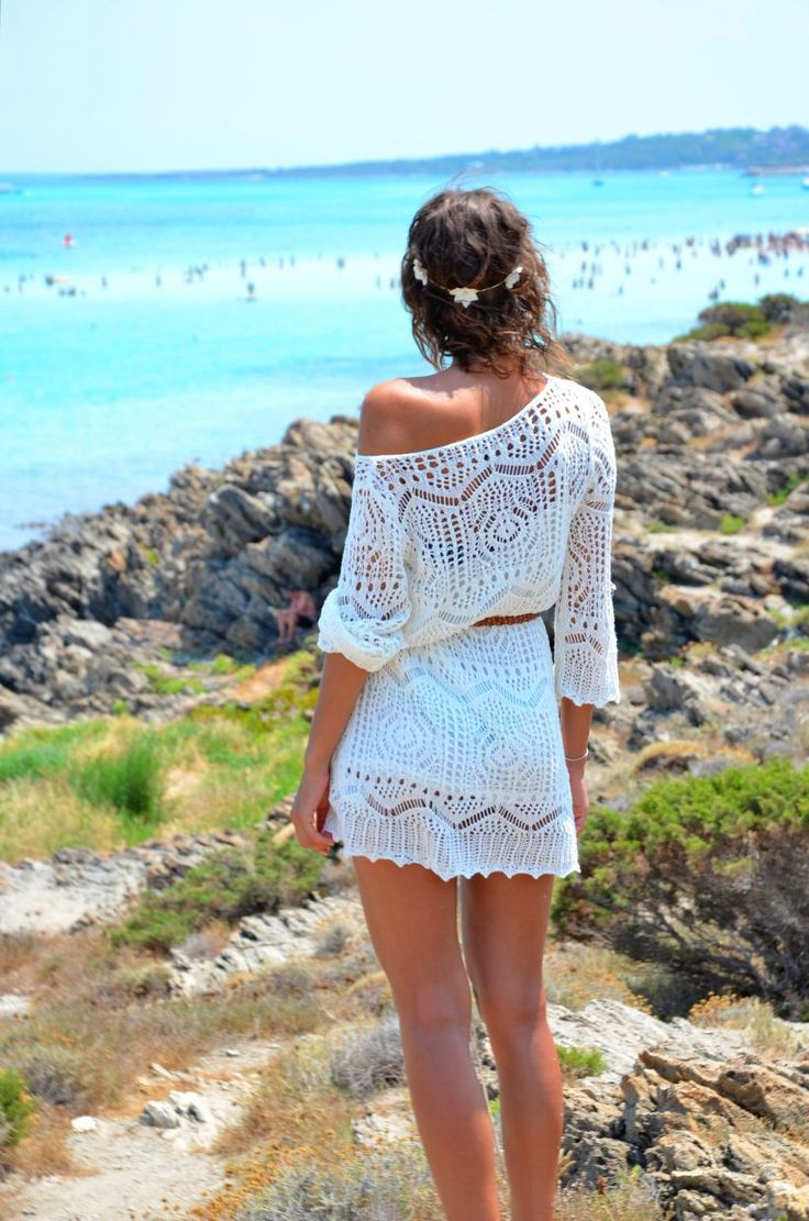 crochet dress, beautiful for a coastal vacation or something...if I ever went on one.