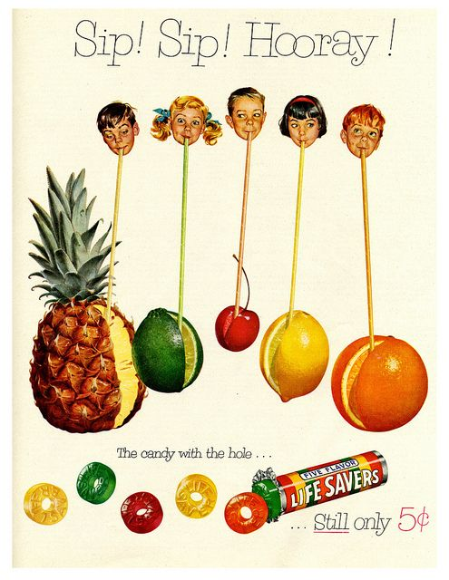 Sip! Sip! Hooray! #1950s Life Savers #ad. We have many different flavours in both stores!
