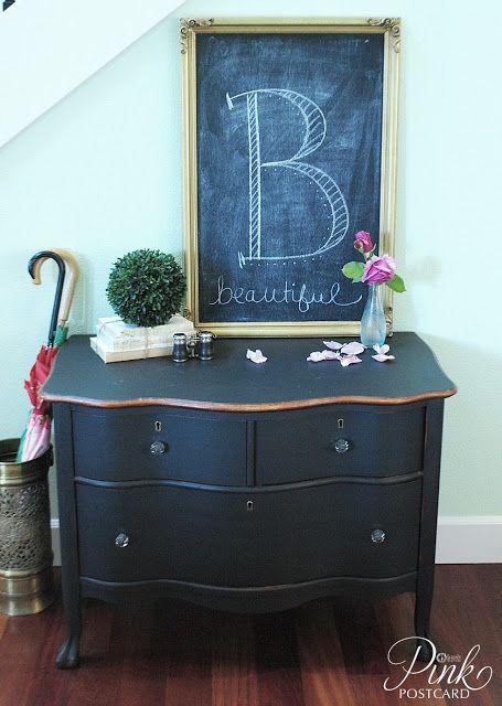 Pinkpostcard curvy black dresser noble vintage home - Black chalk paint dresser ...
