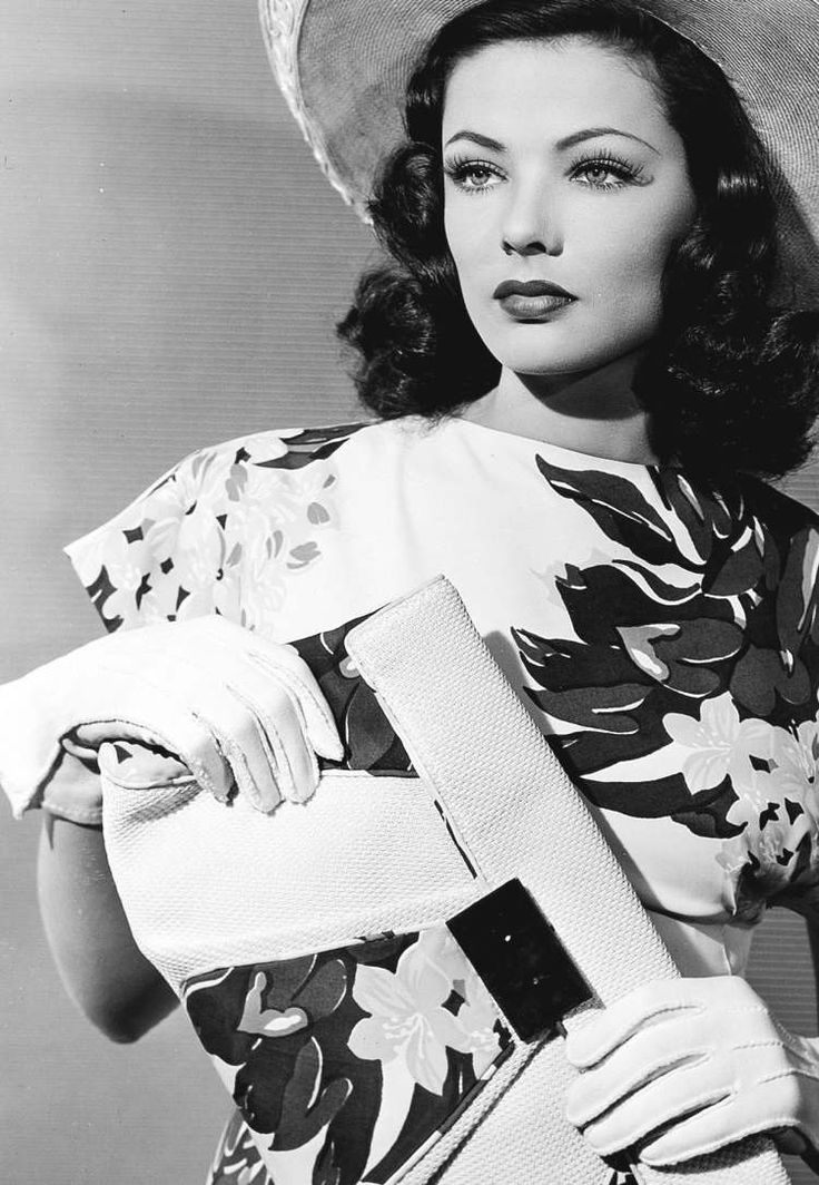 """ ""Gene Tierney for Thunder Birds, 1942 "" """