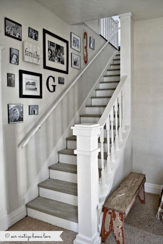 décoration mur escalier Plus