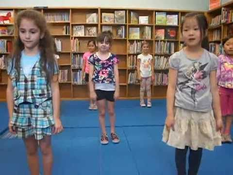 6 Year Old Mikayla 1st Year Cheerleading Routine. Cheers, Dance, Stunts. (Cute..a little funny to.) - YouTube