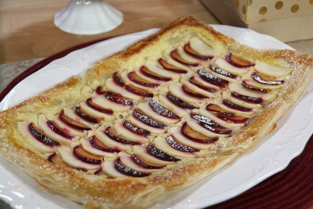 RECIPE: Plum and Apple Tart with Danish Cheese filling