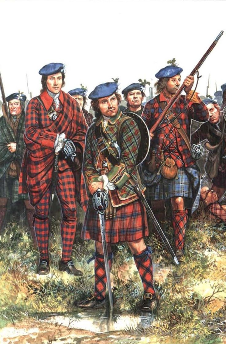 Typical garb of the Jacobite Highlanders at Culloden. History! by Zhukov - The Military History Emporium